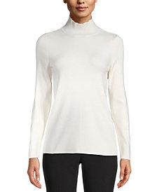 Anne Klein Mock-Neck Pullover Sweater