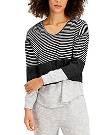 Style & Co Colorblocked Hoodie, Created for Macy's