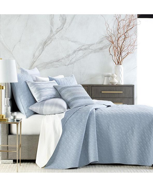 Hotel Collection Parallel Full/Queen Coverlet, Created for Macy's