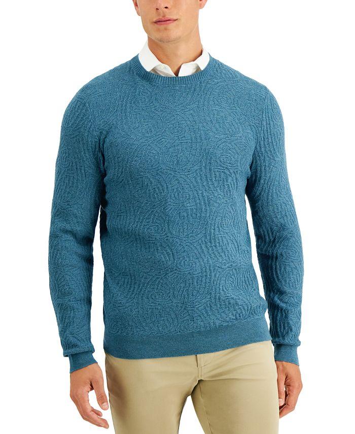Tasso Elba - Men's Striped Jacquard Sweater