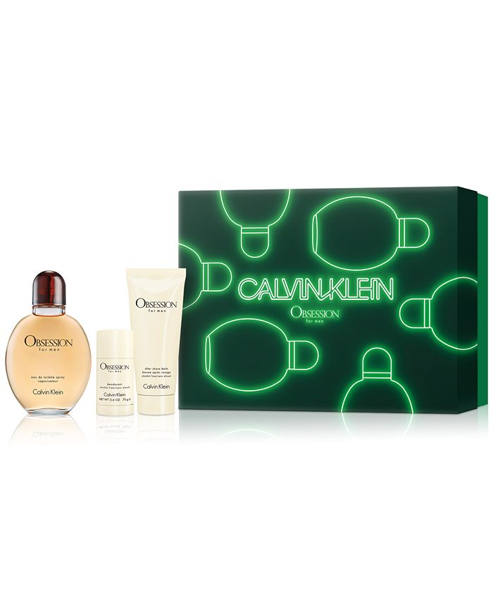 Calvin Klein - Men's 3-Pc. Obsession For Men Eau de Toilette Gift Set