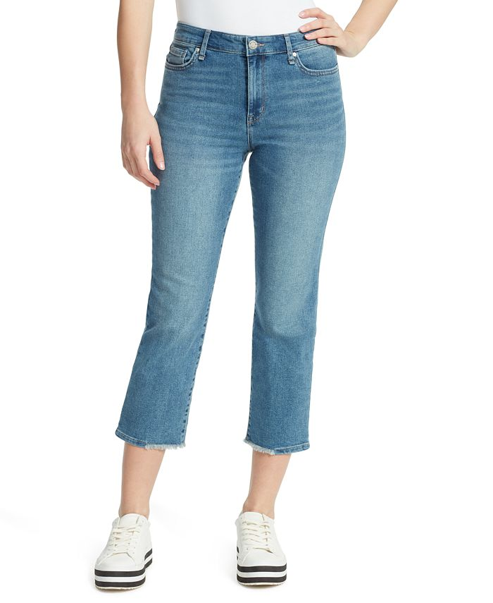 WILLIAM RAST - High-Rise Cropped Straight-Leg Jeans