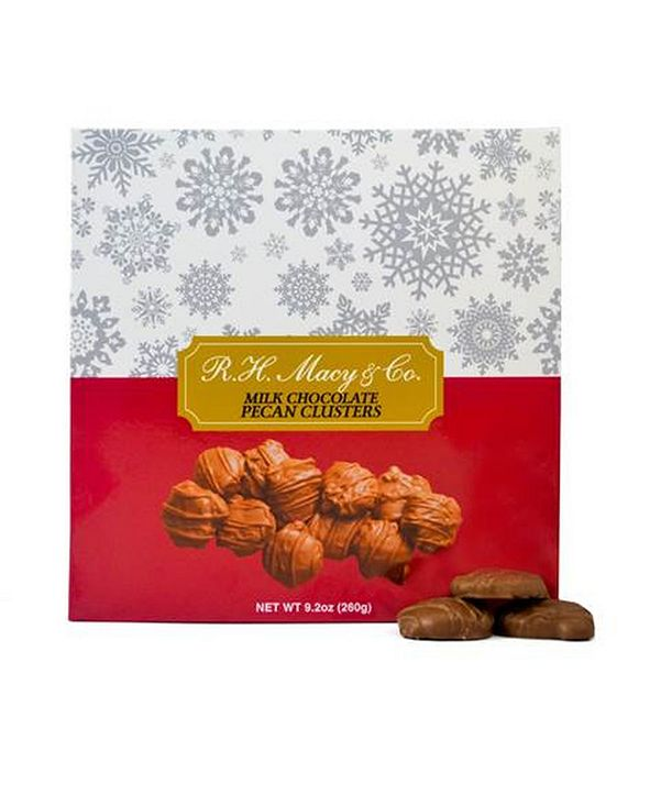 R.H. Macy & Co. Milk Chocolate Pecan Caramel Clusters Box