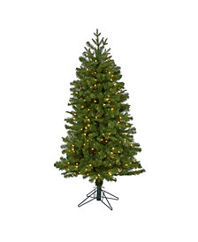 Nearly Natural Vancouver Spruce Artificial Christmas Tree with 200 Warm Lights and 461 Bendable Branches