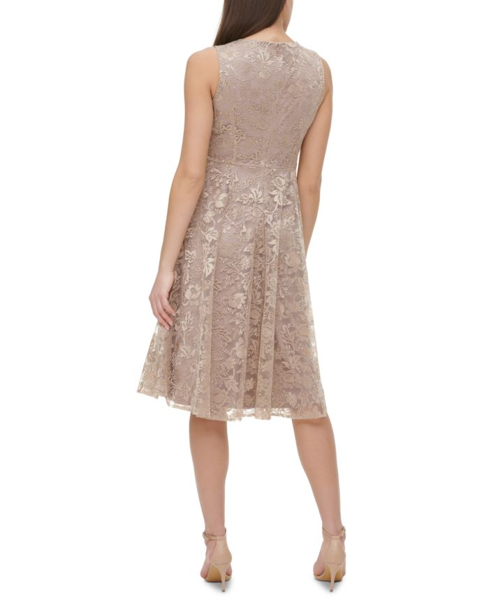 Tommy Hilfiger Floral Lace Fit & Flare Midi Dress  & Reviews - Dresses - Women - Macy's