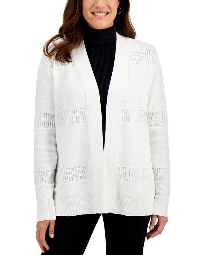 Karen Scott - Pointelle Cardigan Sweater