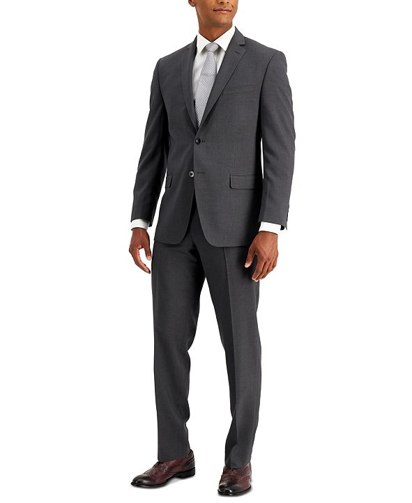 Marc New York by Andrew Marc Men's Stretch Classic-Fit Blue Neat Suit
