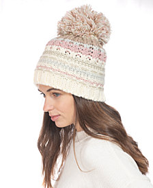 INC Mixed-Striped Beanie, Created for Macy's
