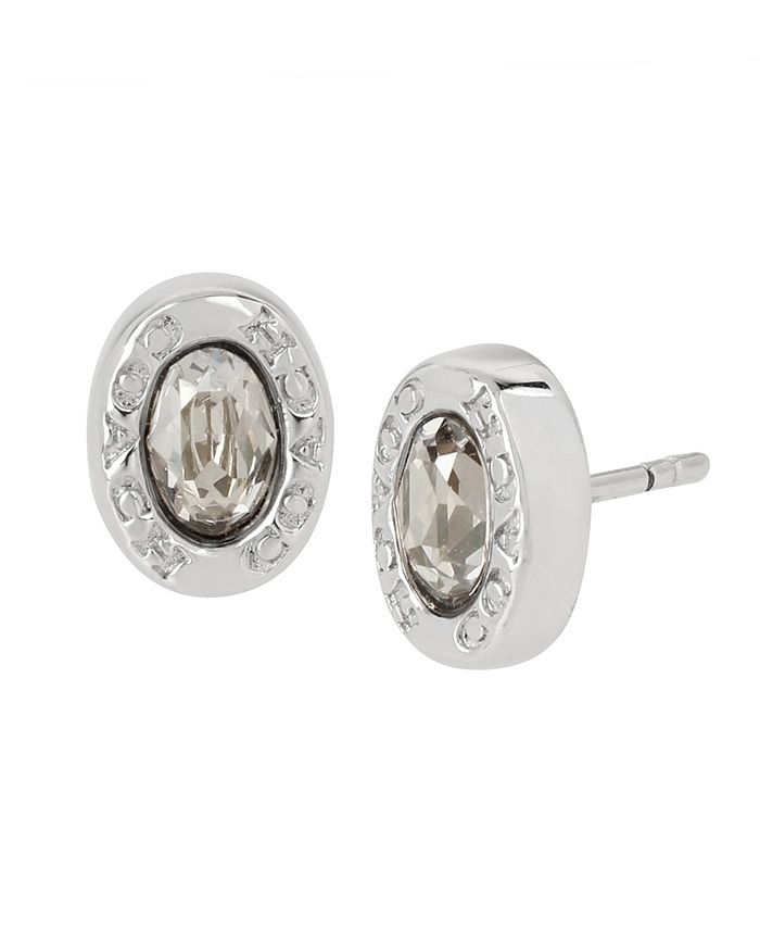 COACH - Signature Logo Swarovski® Crystals Stud Earrings