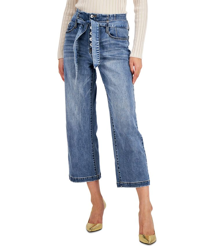 INC International Concepts - Corset-Seam Cropped Jeans