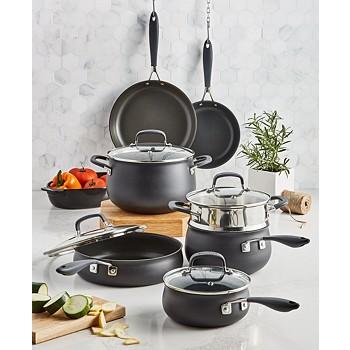 12-Piece Belgique Hard-Anodized Aluminum Nonstick Cookware Set