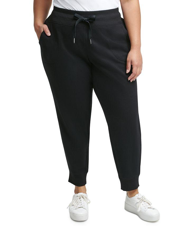 Calvin Klein - Plus Size Ribbed Logo Jogger Pants