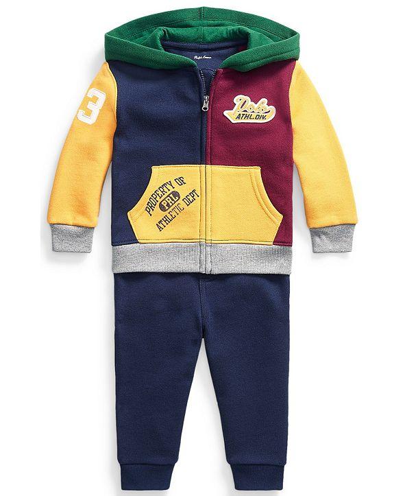 Polo Ralph Lauren Ralph Lauren Baby Boys Fleece Hoodie and Jogger Set