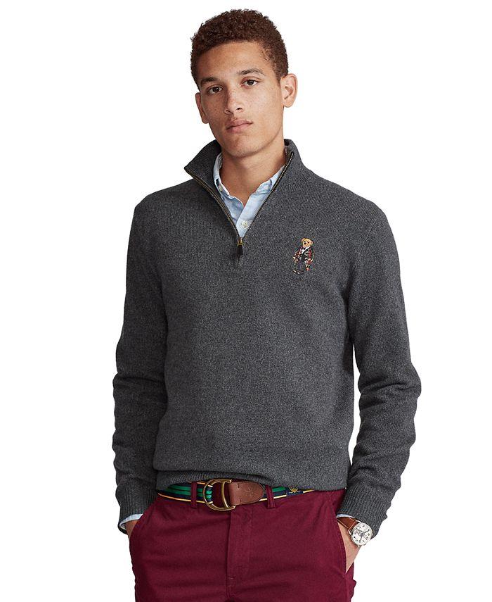 Polo Ralph Lauren - Men's Polo Bear Quarter-Zip Sweater