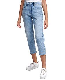 Calvin Klein Jeans High-Rise Cropped Straight-Leg Jeans