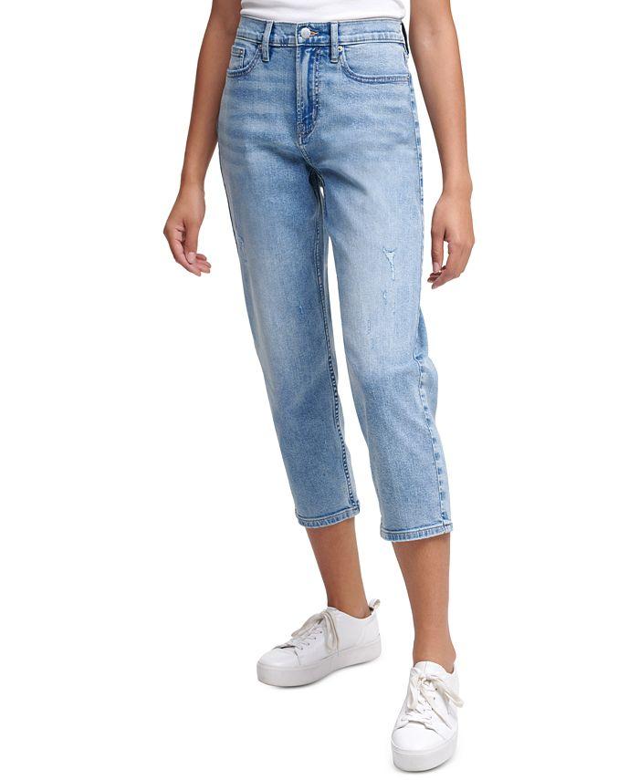 Calvin Klein Jeans - High-Rise Cropped Straight-Leg Jeans