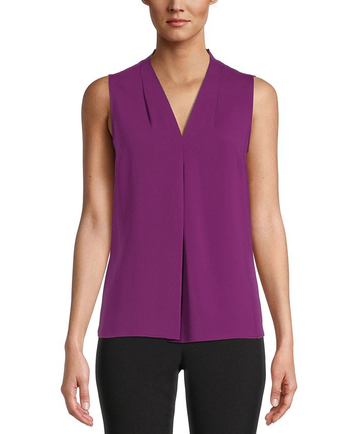 Bar III - Seamed V-Neck Blouse