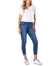 Celebrity Pink Juniors' Roll Cuff Skinny Jeans