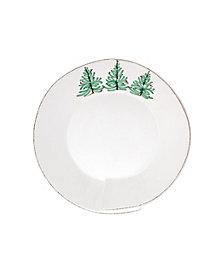 Vietri Lastra Holiday Medium Shallow Serving Bowl