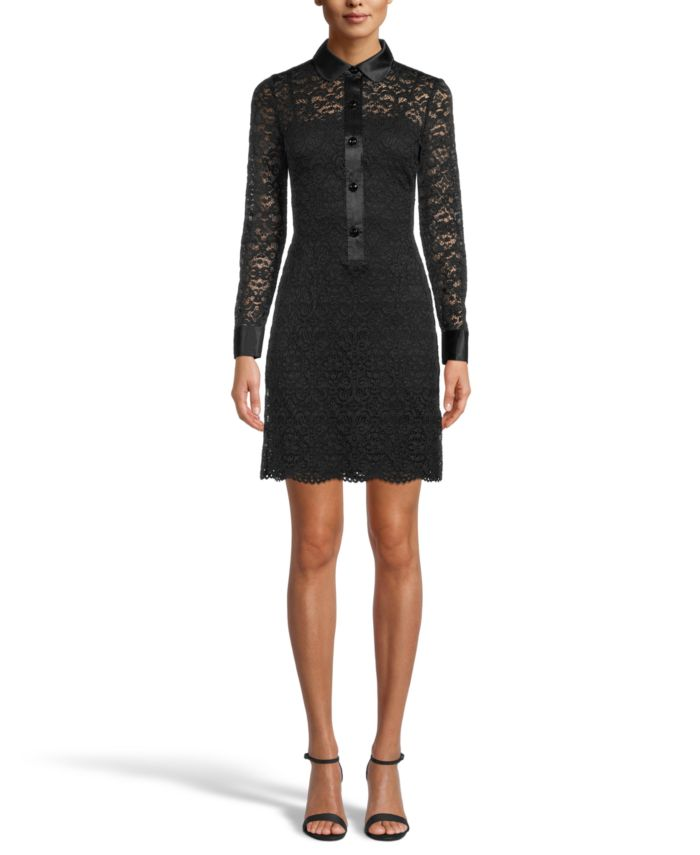 Anne Klein Collared Lace Sheath Dress & Reviews - Dresses - Women - Macy's