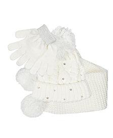 Big Girls Hat, Scarf and Gloves Set, 3 Piece Set