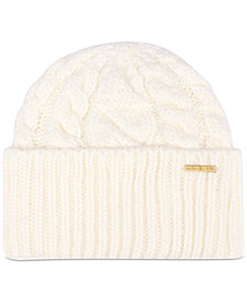 Michael Michael Kors Women's Super Cable Cuff Beanie Hat