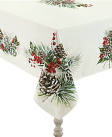 "Laural Home Winter Garland Tablecloth -70""x 84"""