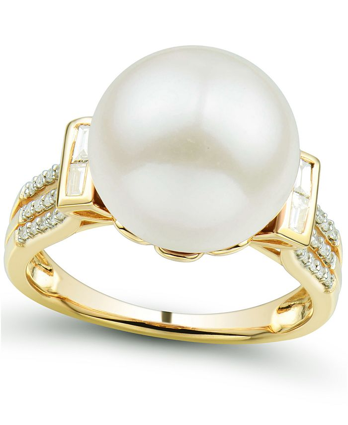 Honora - Cultured Ming Pearl (12mm) & Diamond (1/5 ct. tw.) Ring in 14k Gold