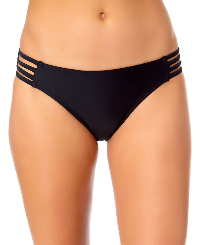 California Waves - Juniors' Strappy-Side Hipster Bikini Bottoms