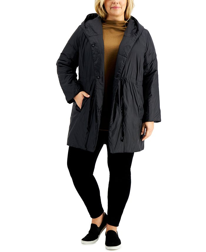 Eileen Fisher - Plus Size Hooded Coat