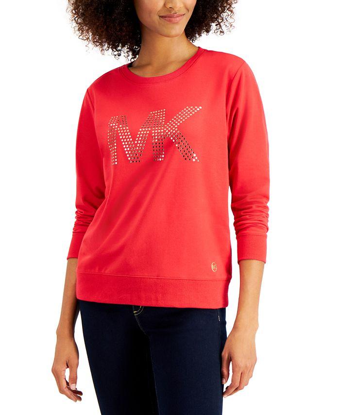 Michael Kors - Embellished-Logo Top