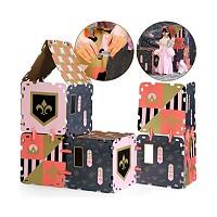 FAO Schwarz 16-Piece Cardboard Fort Building Set