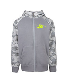 Nike Little Boys Camo Printed Fleece Hoodie