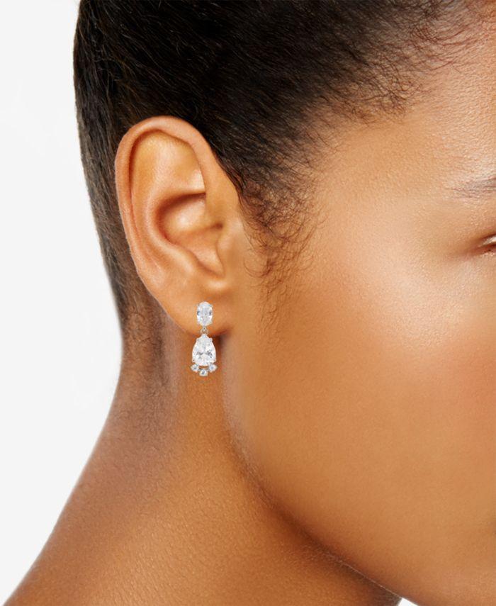 Eliot Danori Cubic Zirconia Pendant Necklace & Drop Earrings Set, Created for Macy's & Reviews - Earrings - Jewelry & Watches - Macy's