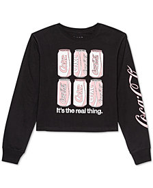 Love Tribe Juniors' Coca-Cola Long-Sleeved Graphic T-Shirt