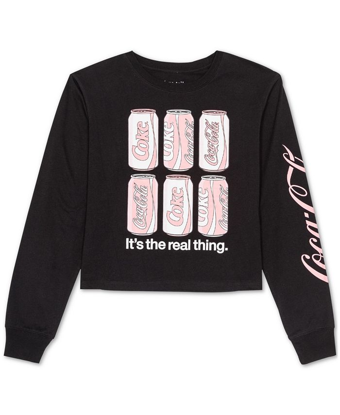 Love Tribe - Juniors' Coca Cola Long-Sleeved Graphic T-Shirt