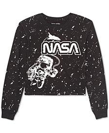 Love Tribe Juniors' NASA Long-Sleeved Graphic T-Shirt