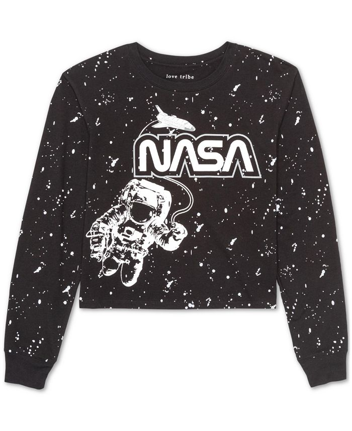 Love Tribe - Juniors' NASA Long-Sleeved Graphic T-Shirt