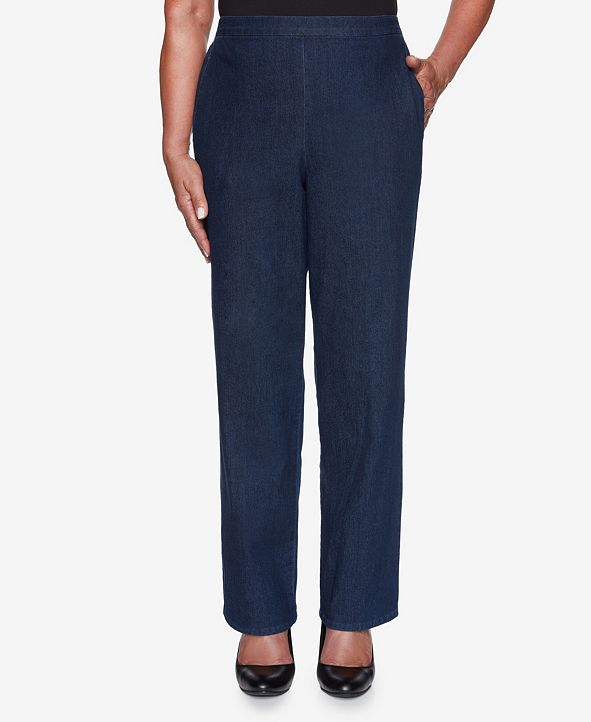 Alfred Dunner Women's Missy Hunter Mountain Denim Proportioned Medium Pant