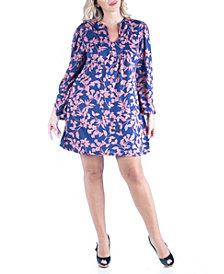 Women's Plus Size Floral Print Shift Dress
