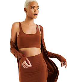 CULPOS X INC Ribbed Bralette, Created for Macy's