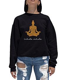 Women's Word Art Crewneck Inhale Exhale Sweatshirt
