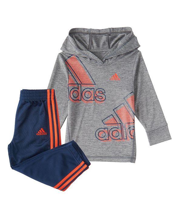 adidas Baby Boys Long Sleeve Expression Hooded Tee Set