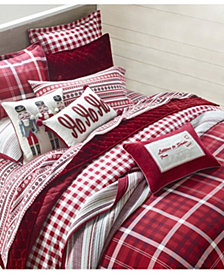 Martha Stewart Collection Wyoming Plaid Flannel Bedding Collection, Created for Macys
