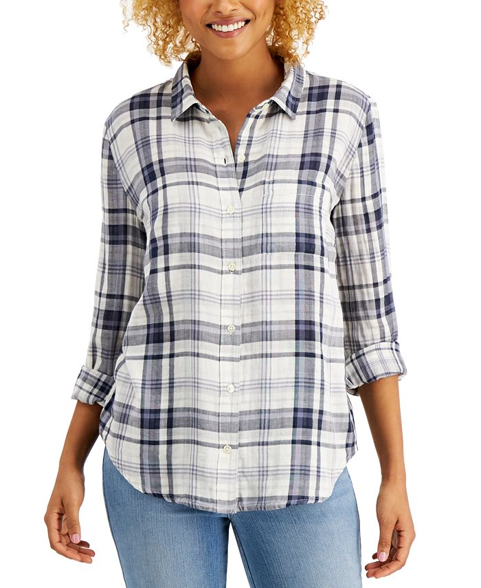 Style & Co - Cotton Plaid Button-Down Shirt
