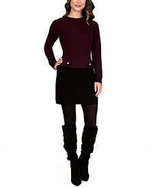 BCX Juniors' Crewneck Sweater Dress