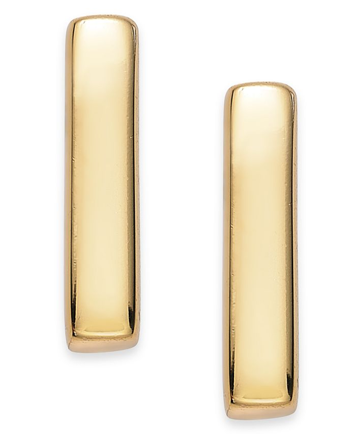 Giani Bernini - 18k Gold over Sterling Silver Bar Stud Earrings
