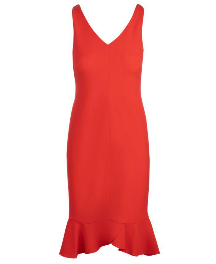 INC International Concepts INC V-Neck Ruffled-Hem Sheath Dress, Created for Macy's  & Reviews - Dresses - Women - Macy's