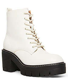 Madden Girl Acerr Lace-Up Lug Combat Boots