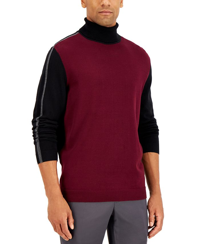 Alfani - Men's Stripe Turtleneck Sweater